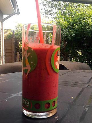 "recette smoothie fruits rouge ""baiser rouge"" (ZUMO)"