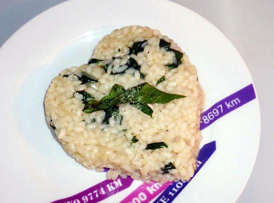 recette de risotto pinards et parmesan. Black Bedroom Furniture Sets. Home Design Ideas