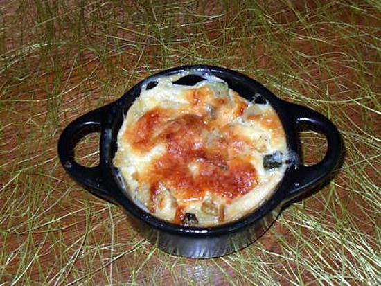 recette Gratin de courgette et poivrons au carré frais à l'ail