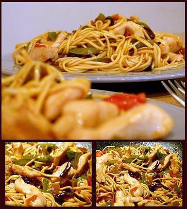 recette Wok - Duo cantonais (sauce aigre-douce faite maison)