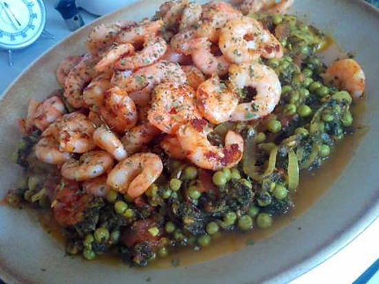 recette Crevettes parcies (plat indien)