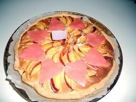 recette tarte amandine au nectarine