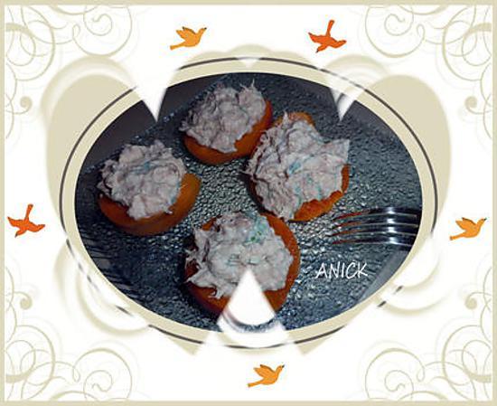 recette d 39 abricots au thon et la sauge. Black Bedroom Furniture Sets. Home Design Ideas