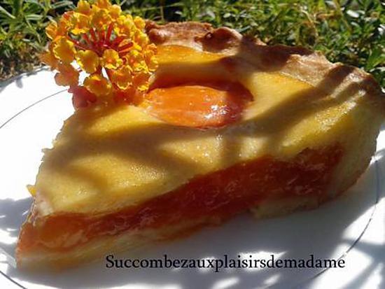 recette tarte aux abricots et à l'amande