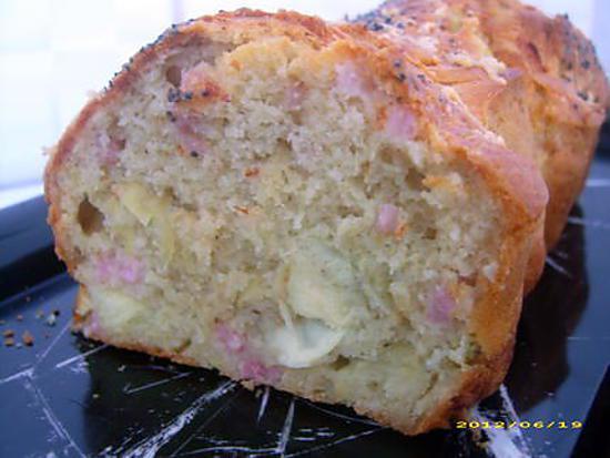 recette cake aux artichauts, petits lardons et conté rapé