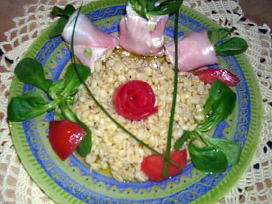 recette fraîcheur de jambon au blé