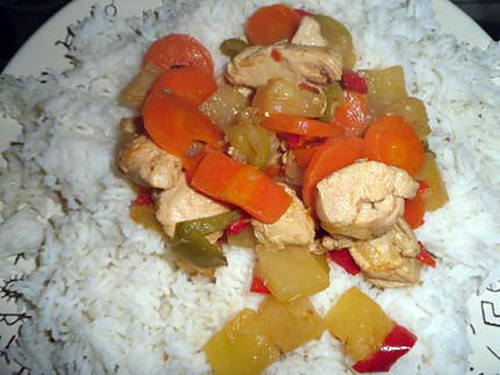 recette de riz au poulet ananas curry. Black Bedroom Furniture Sets. Home Design Ideas