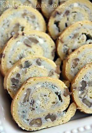 recette Roulé au roquefort & aux noix
