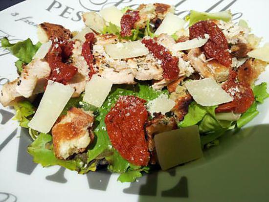 Recette de salade c sar au poulet par la popotte coup de c - Recette salade cesar au poulet grille ...
