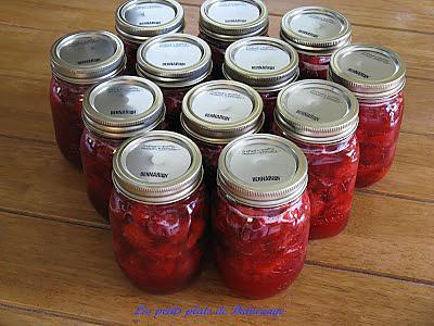 recette Confiture de fraises froide