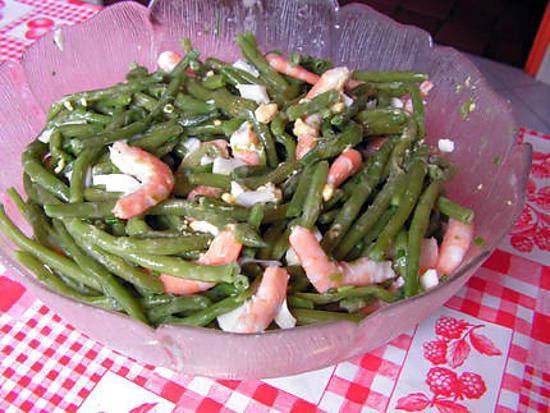 recette de salade de haricots verts aux crevettes. Black Bedroom Furniture Sets. Home Design Ideas