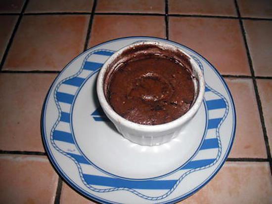 recette de moelleux au chocolat coeur nutella par namounet. Black Bedroom Furniture Sets. Home Design Ideas