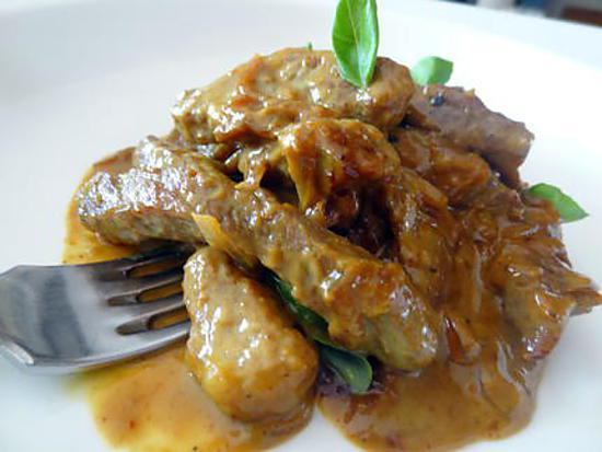 recette de porc caram lis au curry. Black Bedroom Furniture Sets. Home Design Ideas