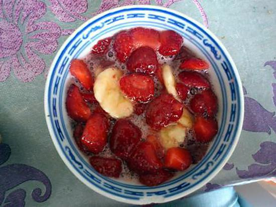 recette Méli-mélo fraise banane orange