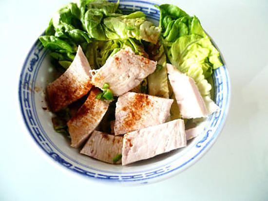 recette de salade de poulet la tha cyril lignac. Black Bedroom Furniture Sets. Home Design Ideas