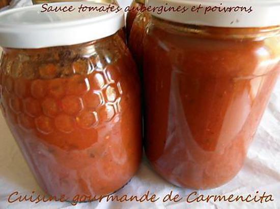 recette Conserves de sauce tomates aubergines-poivrons