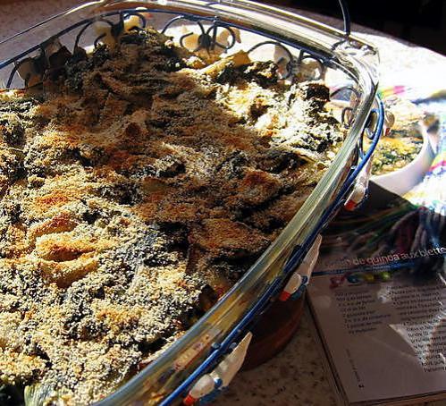 recette Gratin de quinoa aux blettes de Cyril