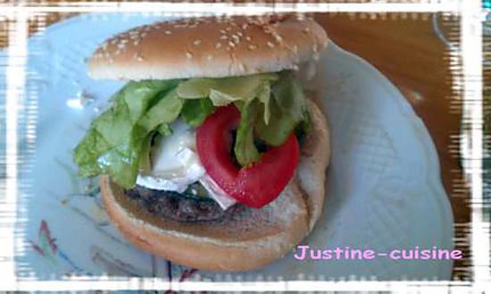 recette Hamburger courgette et chèvre