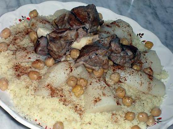 Recette de couscous sauce blanche et navets d 39 alger celui des f tes - Cuisine algerienne facile ...