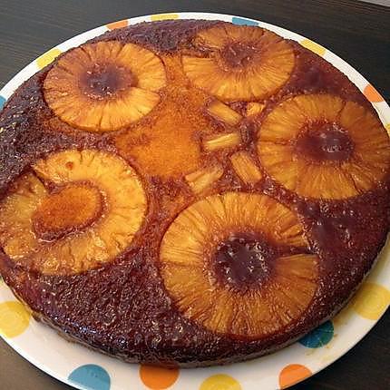 recette Gâteau Upside Down à l'Ananas