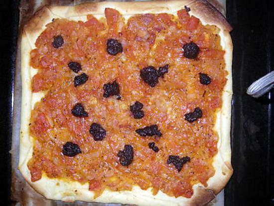 recette Feuilletté d'oignons, tomates et olives