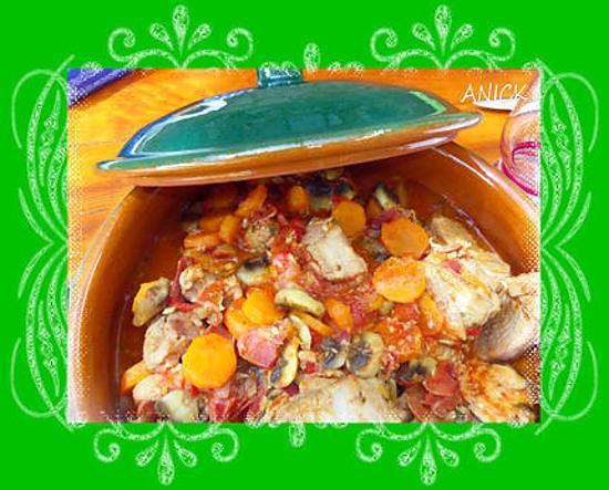 recette Sauté de veau aux carottes des sables et champignons