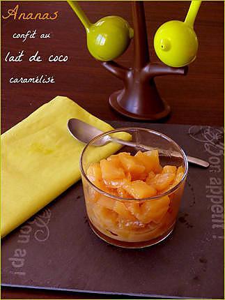 recette Ananas confit au lait de coco caramélisé