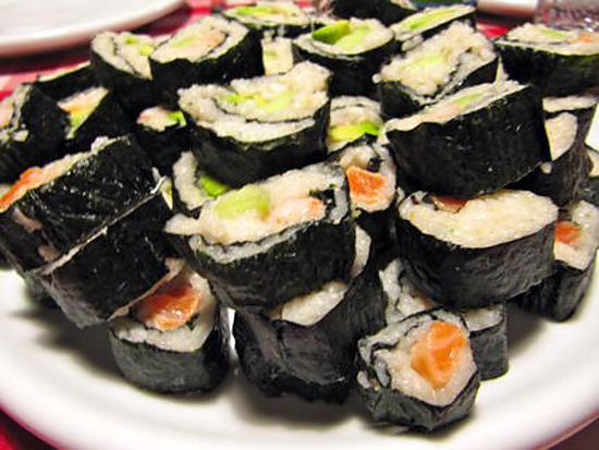 recette de makis concombre saumon crevettes avocat. Black Bedroom Furniture Sets. Home Design Ideas
