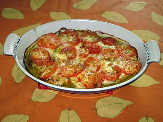 recette d 39 escalope de poulet gratin e la tomate mozzarella. Black Bedroom Furniture Sets. Home Design Ideas