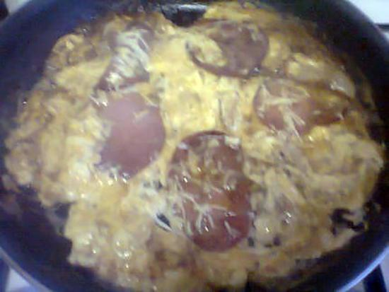recette mon omelette bacon fromage