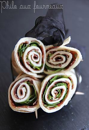 recette Wraps grisons & roquette