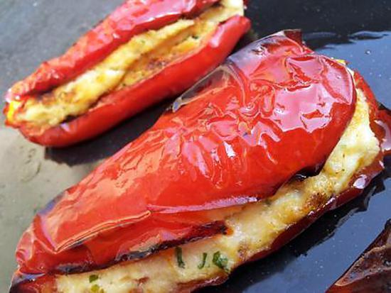 Recette d 39 encornet de poivrons farcis la brandade - Cuisiner des encornets ...