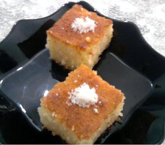 Recette de basboussa au lait concentr sucr un pure d lice for Amour de cuisine basboussa