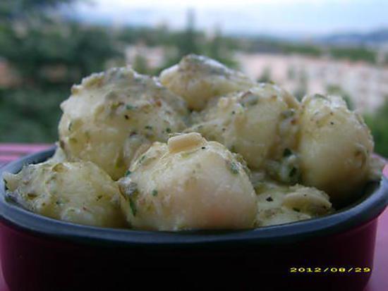 recette pommes de terre fondantes à la choupette, version froide (tapas)