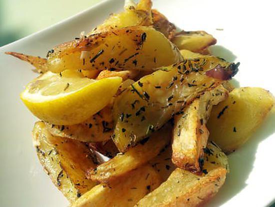 recette Frites au thym et citron