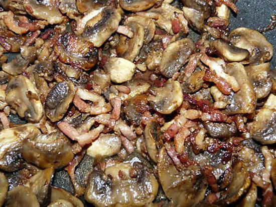 Recette de po l e de champignons de paris - Champignon de paris a la poele ...