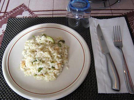 recette de risotto au scampis et courgette. Black Bedroom Furniture Sets. Home Design Ideas