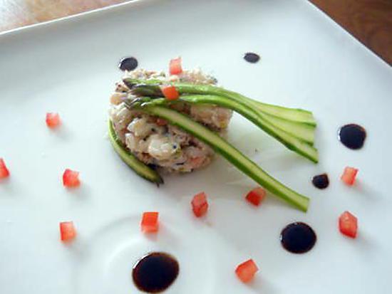 recette Salade de langoustines et gambas, vinaigrette à la truffe