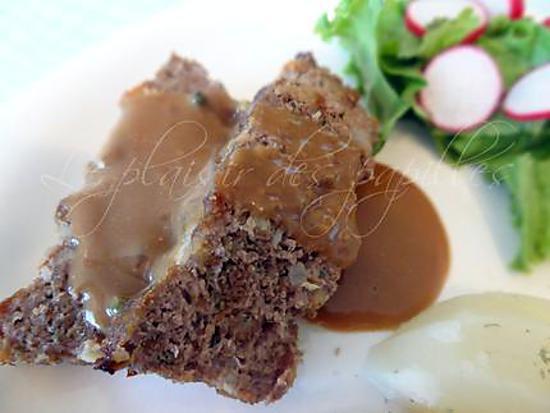 Recette de pain de viande sauce aux cinq poivres - Temps de decongelation viande ...