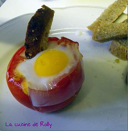 recette Oeuf cocotte en tomate