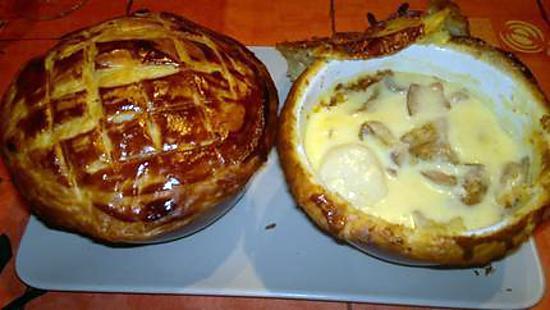 recette Soupe soufflée de Saint,Jacques aux Champignons des bois et Safran