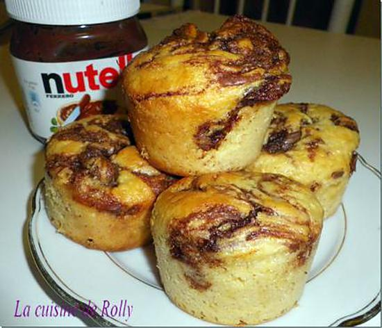 recette de muffins au nutella par rolly. Black Bedroom Furniture Sets. Home Design Ideas