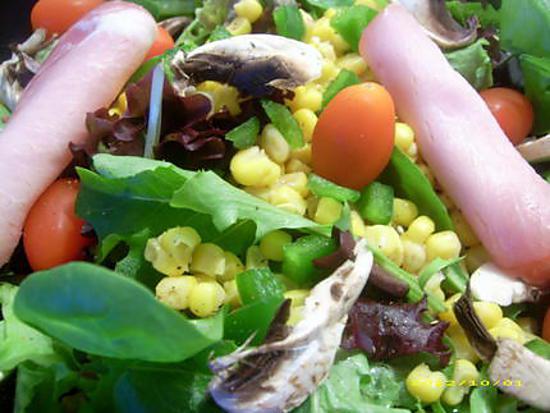 recette bacon salad