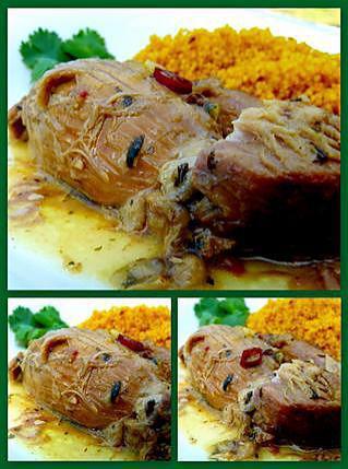 recette Epaule d'agneau confite aux épices