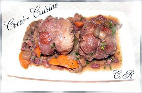 recette Paupiettes de porc à la bourguignonne