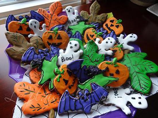 Recette de biscuits d 39 halloween au chocolat - Recette dessert halloween ...