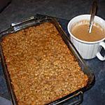 recette Croustade aux pommes, sauce crème et rhum