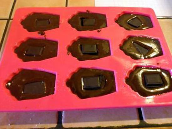 recette Madeleines au chocolat fondant