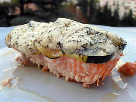 recette papillote de saumon aux courgettes
