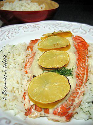 recette Saumon à la crème de fenouil